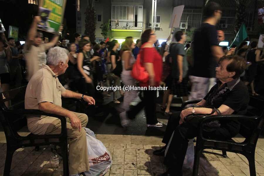 Israel, Tel Aviv,  the Housing Protest demonstration
