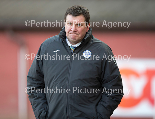 Dundee United v St Johnstone.....21.02.15<br /> Tommy Wright<br /> Picture by Graeme Hart.<br /> Copyright Perthshire Picture Agency<br /> Tel: 01738 623350  Mobile: 07990 594431
