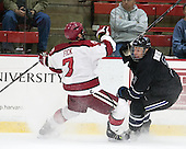 Danny Fick (Harvard - 7), Justin Breton (Bentley - 3) - The Harvard University Crimson defeated the visiting Bentley University Falcons 3-0 on Saturday, October 26, 2013, in Harvard's season opener at Bright-Landry Hockey Center in Cambridge, Massachusetts.