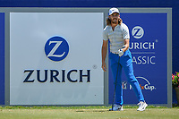 Tommy Fleetwood (ENG) watches his tee shot on 1 during Round 4 of the Zurich Classic of New Orl, TPC Louisiana, Avondale, Louisiana, USA. 4/29/2018.<br /> Picture: Golffile | Ken Murray<br /> <br /> <br /> All photo usage must carry mandatory copyright credit (&copy; Golffile | Ken Murray)