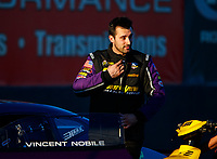 Jan 31, 2018; Chandler, AZ, USA; NHRA pro stock driver Vincent Nobile during Nitro Spring Training Testing at Wild Horse Pass Motorsports Park. Mandatory Credit: Mark J. Rebilas-USA TODAY Sports