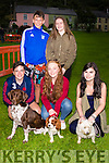 Pictured at the Cahersiveen dog show on Friday evening were front l-r; Nial Casey, Sarah Landers, Aoibhe O'Connor, back l-r; Jamie Cooke & Katie Trew with Trixy, Alfie & Lilly.