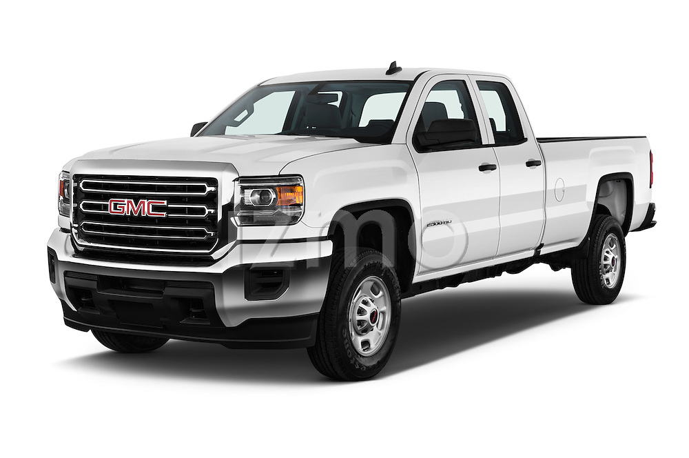 2016 GMC Sierra-2500HD 2WD-Double-Cab-Long-Box 4 Door Pick-up Angular Front stock photos of front three quarter view