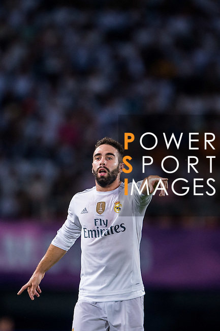 Dani Carvajal of Real Madrid CF reacts during the FC Internazionale Milano vs Real Madrid  as part of the International Champions Cup 2015 at the Tianhe Sports Centre on 27 July 2015 in Guangzhou, China. Photo by Aitor Alcalde / Power Sport Images