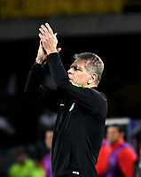 BOGOTÁ - COLOMBIA, 14-01-2019: Paulo Autuori, técnico de Atlético Nacional, durante partido entre América de Cali y Atlético Nacional, por el Torneo Fox Sports 2019, jugado en el estadio Nemesio Camacho El Campin de la ciudad de Bogotá. / Paulo Autuori, coach of Atletico Nacional, during a match between America de Cali and Atletico Nacional, for the Fox Sports Tournament 2019, played at the Nemesio Camacho El Campin stadium in the city of Bogota. Photo: VizzorImage / Luis Ramírez / Staff.
