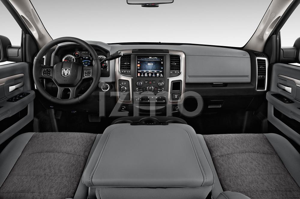 Stock photo of straight dashboard view of 2017 Ram 3500 Big Horn 4 Door Pick Up