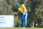 Johan Edfors (SWE) tees off on the 3rd tee during the Final Day Sunday of the Open de Andalucia de Golf at Parador Golf Club Malaga 27th March 2011. (Photo Eoin Clarke/Golffile 2011)