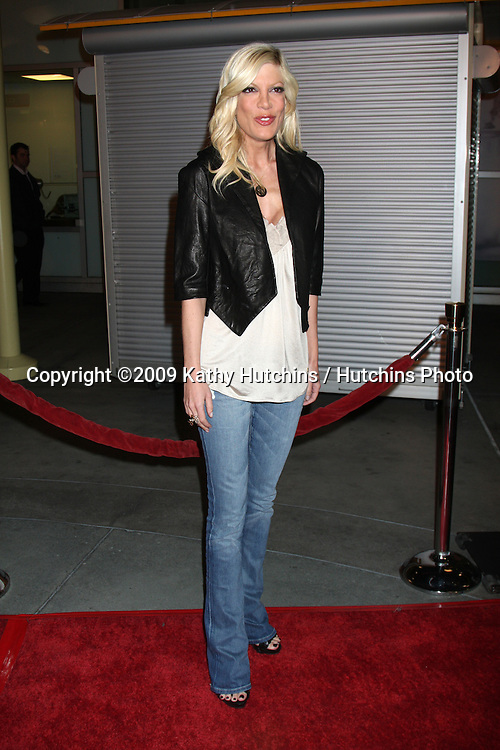 Tori Spelling arriving at the Last House on the Left Premiere at the ArcLight Theaters l in Los Angeles , CA on  March 10, 2009 .©2009 Kathy Hutchins / Hutchins Photo....                .