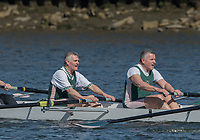 Mortlake/Chiswick, GREATER LONDON. United Kingdom. Auriol Kensington RC. MasF.8+, competing in the 2017 Vesta Veterans Head of the River Race, The Championship Course, Putney to Mortlake on the River Thames.<br /> <br /> <br /> Sunday  26/03/2017<br /> <br /> [Mandatory Credit; Peter SPURRIER/Intersport Images]