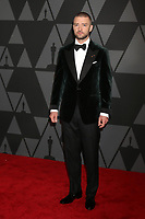HOLLYWOOD, CA - NOVEMBER 11: Justin Timberlake at the AMPAS 9th Annual Governors Awards at the Dolby Ballroom in Hollywood, California on November 11, 2017. <br /> CAP/MPI/DE<br /> &copy;DE/MPI/Capital Pictures