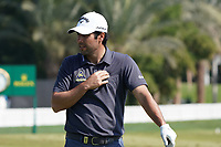 Adrian Otaegui (ESP) on the driving range during the Pro-Am of the Abu Dhabi HSBC Championship 2020 at the Abu Dhabi Golf Club, Abu Dhabi, United Arab Emirates. 15/01/2020<br /> Picture: Golffile | Thos Caffrey<br /> <br /> <br /> All photo usage must carry mandatory copyright credit (© Golffile | Thos Caffrey)