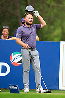Tyrrell Hatton (ENG) on the 16th tee during the 3rd round of the DP World Tour Championship, Jumeirah Golf Estates, Dubai, United Arab Emirates. 17/11/2018<br /> Picture: Golffile | Fran Caffrey<br /> <br /> <br /> All photo usage must carry mandatory copyright credit (© Golffile | Fran Caffrey)