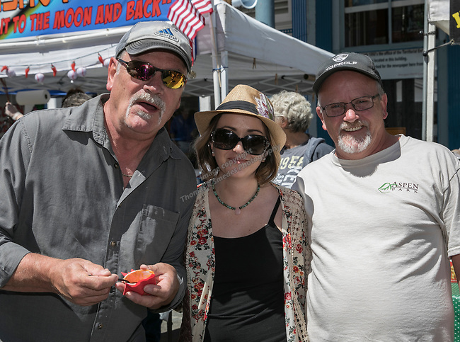 Donald, Karrie Christy, and Gary Christy at the 34th Annual Chili on the Comstock Cook Off in Virginia City on Sunday, May 21, 2017.