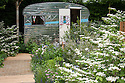 A Celebration of Caravanning show garden, designed by Jo Thompson, RHS Chelsea Flower Show 2012.