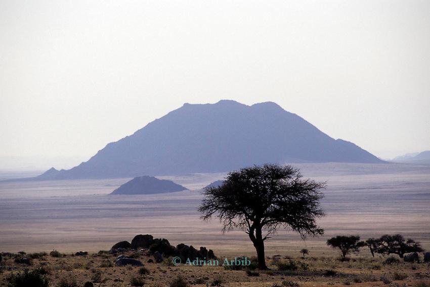 The plains near Aus on the edge of the Namib Naukluft  desert, Southern Namibia