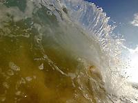 Heavy backwash on Maui's beach break. Makena break, big beach, amazing hollow tubes.Hawaii waters.