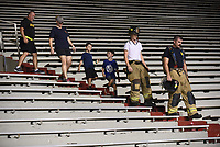 FZ FEA UA911 9-12<br /> <br /> Large early morning turnout for the University of Arkansas Army/Air Force ROTC 7th annual 9/11 Memorial Stair Climb at Donald W. Reynolds Razorback Stadium on the campus in Fayetteville. Held in honor of the 343 first responders who lost their lives in the World Trade Center September 11, 2001. One thousand nine hundred and eighty stadium steps climbed, the equivalent to the 110 flights of stairs climbed on that day. <br /> <br /> NWA Democrat-Gazette/DAVID GOTTSCHALK