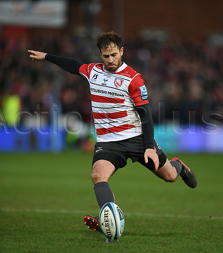 4th January 2020; Kingsholm Stadium, Gloucester, Gloucestershire, England; English Premiership Rugby, Gloucester versus Bath; Danny Cipriani of Gloucester attempts a conversion - Editorial Use