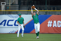Nick Podkul (7) of the Notre Dame Fighting Irish catches a fly ball against the Florida State Seminoles in Game Four of the 2017 ACC Baseball Championship at Louisville Slugger Field on May 24, 2017 in Louisville, Kentucky. The Seminoles walked-off the Fighting Irish 5-3 in 12 innings. (Brian Westerholt/Four Seam Images)
