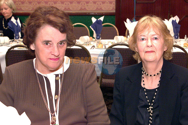 Phyliss O'Connor and Mary Maguire at the dinner in the Ardboyne Hotel to mark John Bruton's thirty years in politics..Picture Paul Mohan Newsfile