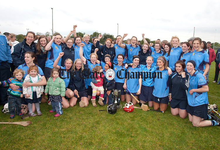 071012.Truagh players celebrate victory in the Intermediate Final at Clarecastle on Sunday.