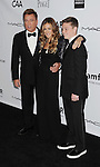 LOS ANGELES, CA - OCTOBER 11: Kevin Huvane, Sarah Jessica Parker and Declan Huvane  arrive at the amfAR 3rd Annual Inspiration Gala at Milk Studios on October 11, 2012 in Los Angeles, California.