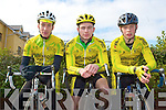 LACEY CUP: The Killorglin Credit Union cycling team competing in the Lacey Cycling Cup on Sunday l-r: Micheal Concannon, Sean Dooan and Killan McGuillycuddy.