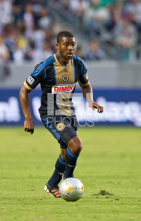 CARSON, CA - July 4, 2012: Philadelphia Union midfielder Michael Lahoud (13) during the LA Galaxy vs Philadelphia Union match at the Home Depot Center in Carson, California. Final score LA Galaxy 1, Philadelphia Union 2.