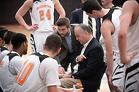 Brian Newhall, head men's basketball coach<br /> The Occidental College men's basketball team take on Chapman University in Rush Gym, Jan. 13, 2016.<br /> (Photo by Marc Campos, Occidental College Photographer)