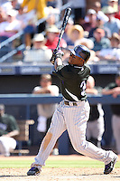 Eric Young Jr, Colorado Rockies 2010 spring training, against the Seattle Mariners at Peoria Stadium, Peoria, AZ - 03/18/2010..Photo by:  Bill Mitchell/Four Seam Images.