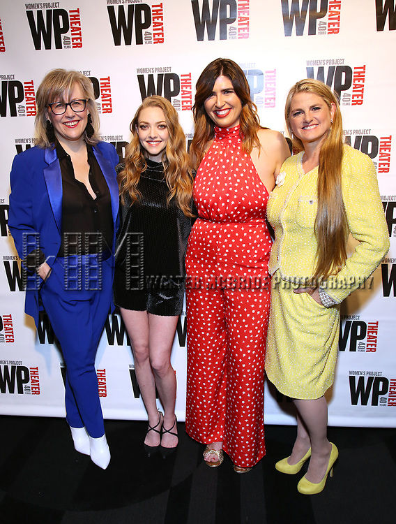 Lisa McNulty, Amanda Seyfried, Emily Warren and Bonnie Comley attends the WP Theater's 40th Anniversary Gala -  Women of Achievement Awards at the Edison Hotel on April 15, 2019  in New York City.