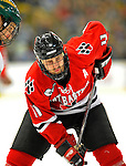 19 January 2008: Northeastern University Huskies' forward Jimmy Russo, a Senior from So. Weymouth, MA, in action against the University of Vermont Catamounts at Gutterson Fieldhouse in Burlington, Vermont. The Catamounts defeated the Huskies 5-2 to close out their 2-game weekend series...Mandatory Photo Credit: Ed Wolfstein Photo