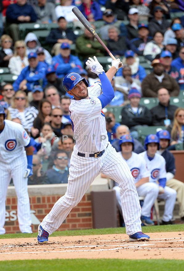 Chicago Cubs Kris Bryant (17) during a game against the New York Mets on May 14, 2015 at Wrigley Field in Chicago, IL. The Cubs beat the Mets 6-5.