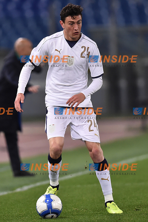 Alex Ferrari Italia <br /> Roma 27-02-2017, Stadio Olimpico<br /> Football Friendly Match  <br /> Italy - Spain Under 21 Foto Andrea Staccioli Insidefoto