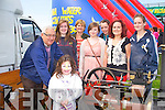 STEAM FUN: Enjoying the steam engines at the Kilmoyley Macra family field day on Sunday front l-r: Meabh Godley. Back l-r: John O'Regan, Alanna Maunsell, Geraldine Galway, Jennifer Falvey, Louise Ryan, Laura Galway and Annie Galway.