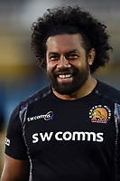 Elvis Taione of Exeter Chiefs looks on prior to the match. Gallagher Premiership match, between Bath Rugby and Exeter Chiefs on October 5, 2018 at the Recreation Ground in Bath, England. Photo by: Patrick Khachfe / Onside Images