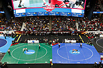 CLEVELAND, OH - MARCH 16: A general view of the 125 weight class matches during the Division I Men's Wrestling Championship held at Quicken Loans Arena on March 16, 2018 in Cleveland, Ohio. (Photo by Jay LaPrete/NCAA Photos via Getty Images)