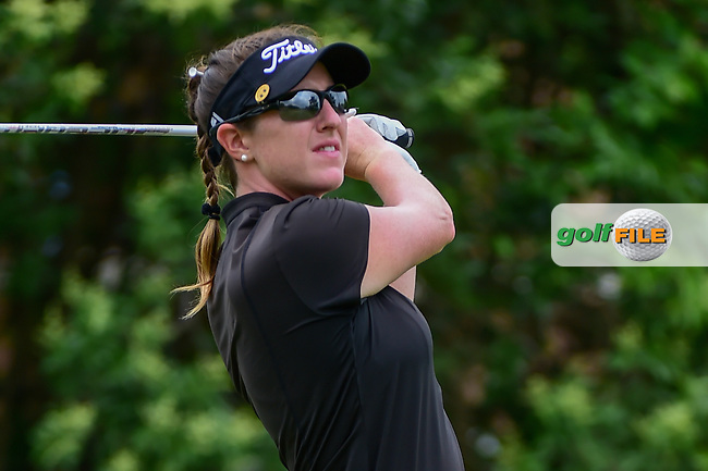 Amelia Lewis (USA) watches her tee shot on 18 during round 3 of  the Volunteers of America Texas Shootout Presented by JTBC, at the Las Colinas Country Club in Irving, Texas, USA. 4/29/2017.<br /> Picture: Golffile | Ken Murray<br /> <br /> <br /> All photo usage must carry mandatory copyright credit (&copy; Golffile | Ken Murray)
