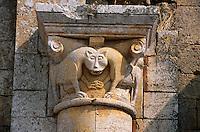 Italien, Toskana, Sant' Antimo, romanische Kirche, Detail