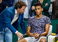 Rotterdam, The Netherlands, 16 Februari 2020, ABNAMRO World Tennis Tournament, Ahoy,<br /> Mens Single Final: runner up Felix Auger-Aliassime (CAN) and Dimitri Bonthuis<br /> Photo: www.tennisimages.com