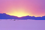 Sunset in White Sands National Monument, Alamogordo, New Mexico, USA. .  John offers private photo tours in Arizona and and Colorado. Year-round.