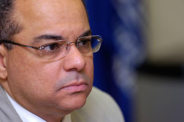 Alejandro Moscoso Segarra, Procurador Fiscal del Distrito Nacional durante una entrevista hoy, viernes 20 de noviembre de 2009..Santo Domingo, República Dominicana.Foto : © Roberto Guzman