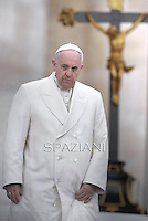 Pope Francis during his weekly general audience in St. Peter square at the Vatican, Wednesday. September 24, 2014.