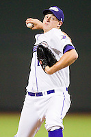 Winston-Salem Dash relief pitcher Jon Bachanov #17 in action against the Salem Red Sox at BB&T Ballpark on May 5, 2012 in Winston-Salem, North Carolina.  The Red Sox defeated the Dash 6-4.  (Brian Westerholt/Four Seam Images)