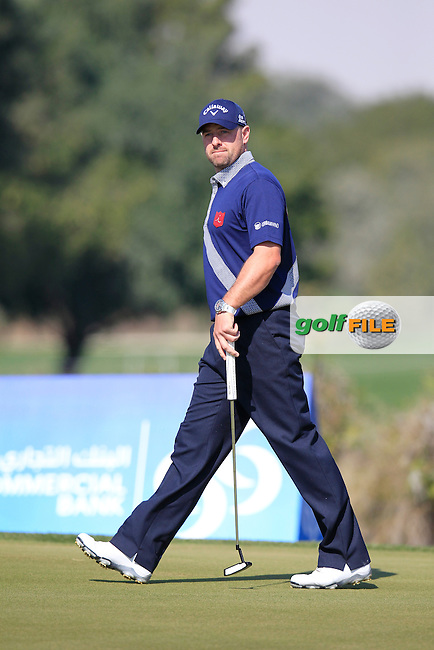 Craig LEE (SCO) on the 9th green during Thursday's Round 2 of the 2015 Commercial Bank Qatar Masters held at Doha Golf Club, Doha, Qatar.: Picture Eoin Clarke, www.golffile.ie: 1/22/2015