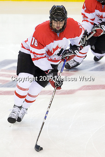 Zack Kassian (Canada - 10) - The US defeated Canada 2-1 at the Urban Plains Center in Fargo, North Dakota, on Friday, April 17, 2009, in their semi-final match during the 2009 World Under 18 Championship.