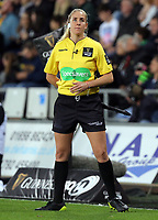Assistant referee Joy Neville during the Guinness PRO14 Round 6 match between Ospreys and Scarlets at The Liberty Stadium , Swansea, Wales, UK. Saturday 07 October 2017