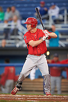 Williamsport Crosscutters right fielder Luke Maglich (26) at bat during a game against the Batavia Muckdogs on September 1, 2016 at Dwyer Stadium in Batavia, New York.  Williamsport defeated Batavia 10-3. (Mike Janes/Four Seam Images)
