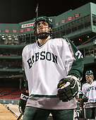 Ryan Gouveia (Babson - 21) - The UMass Boston Beacons defeated the Babson College Beavers 5-1 on Thursday, January 12, 2017, at Fenway Park in Boston, Massachusetts.