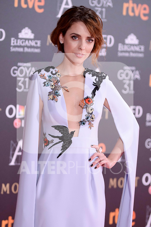 Leticia Dolera attends to the Red Carpet of the Goya Awards 2017 at Madrid Marriott Auditorium Hotel in Madrid, Spain. February 04, 2017. (ALTERPHOTOS/BorjaB.Hojas)